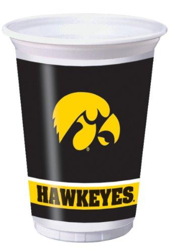 Creative Converting Iowa Hawkeyes 20 oz. Plastic Cups, 8-Count