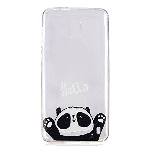 RUIST Cover Nokia 2, Ultra Sottile Trasparente TPU Antiurto Custodia Morbida in Silicone Gel Protettiva Cover Case per Nokia 2 - Hello Panda