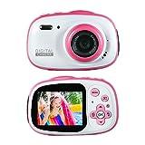 Kids Waterproof Camera Rechargeable Digital for 4-10 Year Old Children, 8MP HD Underwater