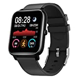 Smart Watch, Fitness Tracker with Heart Rate & Sleep Monitor & 1.4 Inch Color Touch Screen, IP67 Waterproof Fitness Watch with Step Counter for Women and Men, Compatible with iOS & Android (Black)