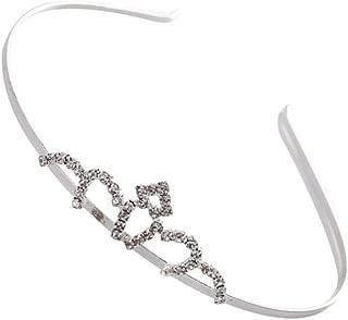Mobestech 1pcs Rhinestone Crowns Hairband Elegant Princess Fashion Charm Tiara Hair Accessory Headpiece Headband