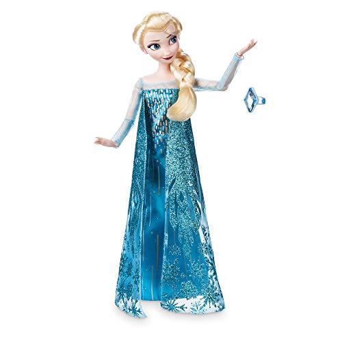 Disney Store Oficial Elsa Princesa muñeca clásica con el Anillo de Accesorios