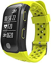 Waterproof GPS Smart Bracelet S908 Fitness Tracker Support Calls MGS Reminder Pedometer Heart Rate for Smartphones - Green