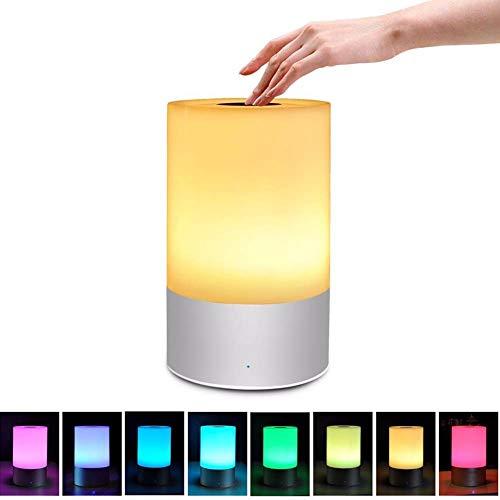 DULIMEI tafellamp met touch-sensor, licht, nachttafellampje, nachtlampje, babynachtlampje, oogverzorging, kinderopvang, instelbare helderheid en zeven, kleurconversie