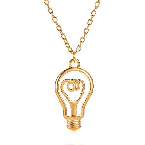 BOBO holle gloeilamp hanger halsketting vrouw man paar halsketting goud en zilver lange trui ketting eenvoudige wilde vrouwelijk sieraden