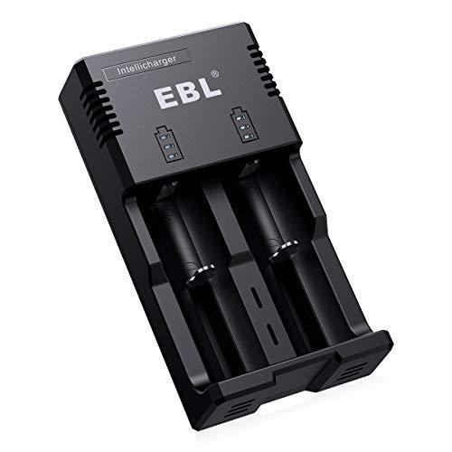 EBL Akku Ladegerät für AAA AA Baby C NI-MH Akkus,RCR123 Schnell Ladegerät Li-Ion/IMR / LiFePO4 / NI-MH/NI-Cd 18650 26650 22650 14500 Batterie Ladegerät