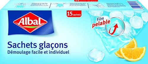 Albal - bolsas de cubitos de hielo - Caja de 15 bolsas