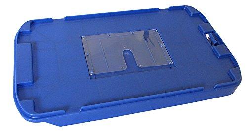 Deckel für Postkiste blau, Briefbehälter, Postbehälter, Stapelbox