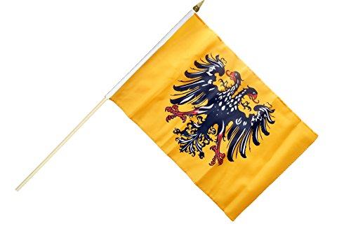 Flaggenfritze Stockflagge/Stockfahne Heiliges Römisches Reich Deutscher Nation nach 1400 + gratis Sticker