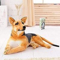 HEZHANG 豪華なおもちゃのぬいぐるみのシミュレーション立って座っている漫画犬羊飼いのシュールな犬のおもちゃの子供たちのギフト写真小道具,B2,40Cm