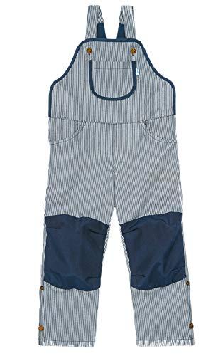 Finkid Loiri Gestreift-Blau, Kinder Hose, Größe 80-90 - Farbe Majolic Striped - Navy
