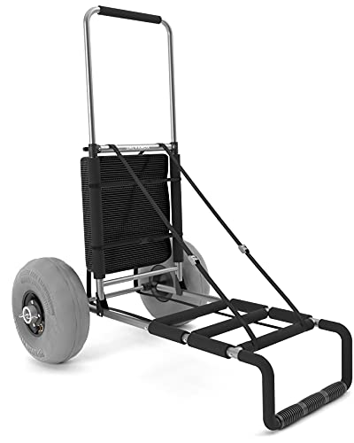Beach Cart with Big Wheels for Sand, Galvanox Collapsible Folding Beach Wagon with Mesh Storage...