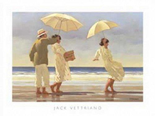 1art1 Jack Vettriano - Strandpicknick Poster Kunstdruck 80 x 60 cm