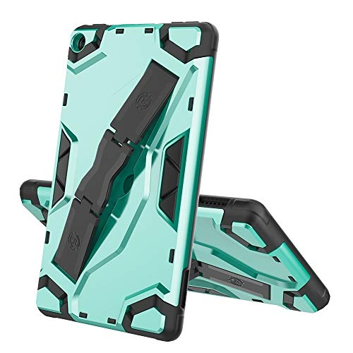 XHEVAT Tablet PC Cases For Amazon Kindle Fire 7 (2019) Escort Series TPU + PC Shockproof Protective Case with Holder (Color : Mint Green)