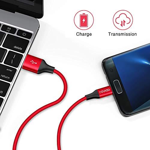 RAVIAD Micro USB Kabel, [4Pack 0.3m+1m+2m+3m] 3A Micro USB Ladekabel Android Schnellladekabel für Samsung Galaxy S7 Edge/S7/S6/J3/J7/Note 5, Huawei, Xiaomi, Wiko, Sony, Nexus, Nokia, Kindle, Echo Dot