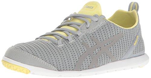 ASICS Women's Metrolyte-W Walking Shoe, Mid Grey/Elfin Yellow/Aluminum, 8 M US