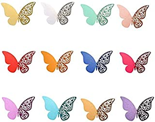 Butterfly Wall Stickers 3D Stereo Hollow Pearl Paper Simulation Bedroom Living Room Creative Refrigerator Stickers