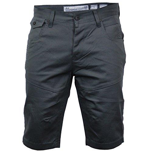 Crosshatch Herren Chino-Shorts, Amalga Magnet, Anthrazit (W38)