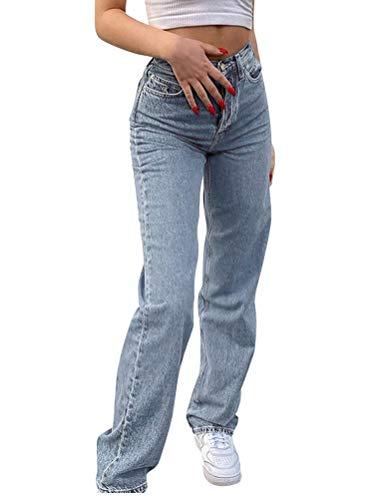 Minetom Baggy Jeans Damen High Waist Straight...