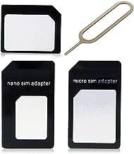 محول كارت Nano Micro Standard SIM لهواتف Samsung S5، S6، Note 4، iPhone 6/iPhone 6S، 6 Plus، HTC One M9