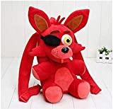 Five Nights at Freddy s Mochila de Felpa Mochila Escolar para niños Freddy Fazbear Mangle Foxy Gloden Bear Cosplay Bolso de Hombro Foxy Bag-33cm -Regalo