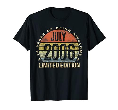 Julio de 2006 Edición Limitada 14th Birthday 14 Year Old Gift Camiseta