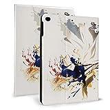 Evergarden Schutzhülle für iPad mit automatischer Schlaf- / Wachfunktion, Leder, ultradünn, leicht, Standfunktion, Violett