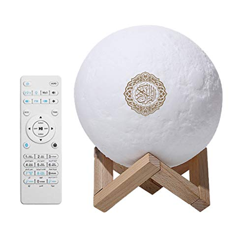 freneci 3D Corano Recita Bluetooth Altoparlante Colorato Notte Luce della Lampada con Telecomando