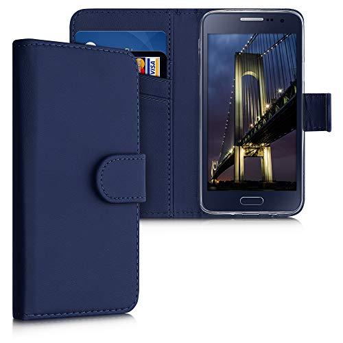 kwmobile Custodia Compatibile con Samsung Galaxy A3 (2015) Custodia Portafoglio - Cover a Libro in Simil Pelle - Flip Case con Porta Carte