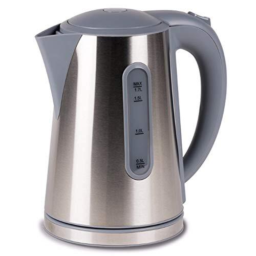 Moderner Edelstahl Wasserkocher Tee Kessel Wasserkessel Camping Küche Outdoor 1,7 L Küchenzubehör Küchengeräte Silber Kabellos 1,7 Liter Kettle Wasser Tee Kocher 230 Volt Edelstahlwasserkocher