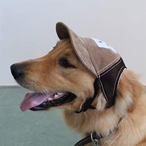 YING-pinghu Productos para Mascotas Sombreros Gorra de Mascota Perro Transpirable Sombrero de Vaquero Corgi Peluche Perro pequeño Largo y Grande Perro béisbol Gorra Golden Retriever Guapo Casco