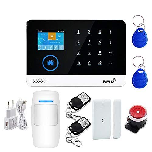 MOMIN WLAN-Türsensor Alarm Glockenspiel Drahtlose Sicherheitsalarmanlage Home Business Multi-Sprache und englische App-Kontrolle Shop Türeintrittsklopfen (Color : White, Size : 1 Pack)
