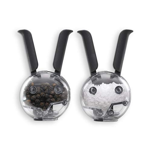 Chef'n Mini Magnetic PepperBall and SaltBall Set (Black),101-033-001