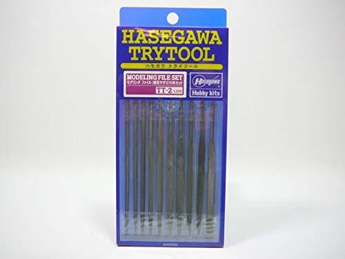 Hasegawa TT-2 71202 Juego de limas de modelado, 10 piezas, herramientas y accesorios de construcción de modelo de plástico
