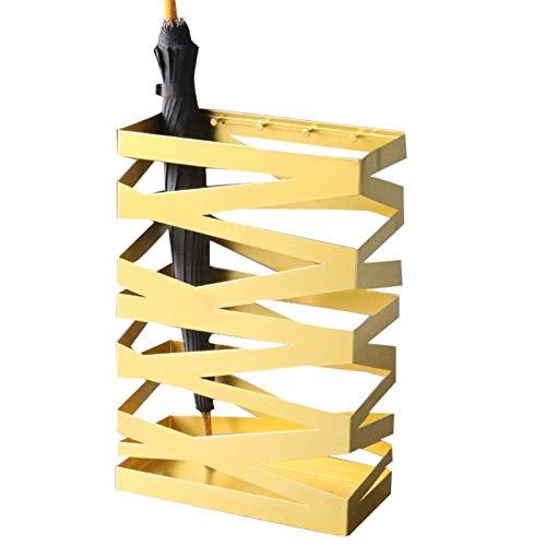 XCZZYC Soporte de Paraguas de Metal con Forma de Malla de Estilo Simple a la Moda, Soporte de Paraguas Cuadrado, con Ganchos, para el vestíbulo del Hotel de la Oficina en casa, etc, 40x20x61cm