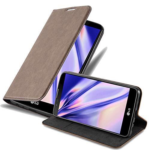 Cadorabo Hülle für LG Stylus 2 in Kaffee BRAUN - Handyhülle mit Magnetverschluss, Standfunktion & Kartenfach - Hülle Cover Schutzhülle Etui Tasche Book Klapp Style