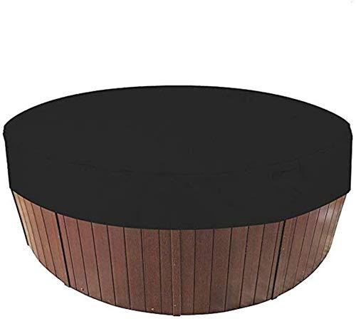 LSSB Cubierta de Polvo para Piscina de SPA Redondo, Cubierta de Jacuzzi al Aire Libre Redondo, Anti-UV, a Prueba de Polvo, Impermeable,Negro(200 * 30cm)