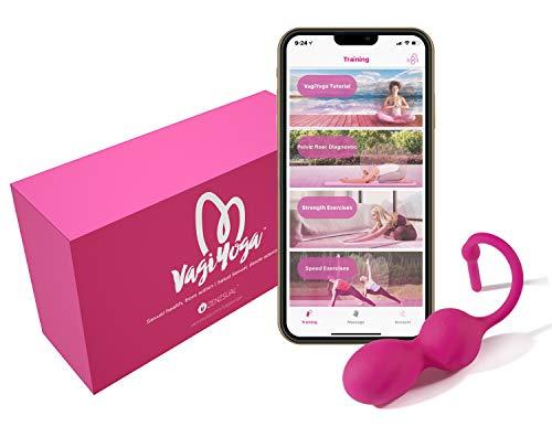 Smart Kegel Trainer for Pelvic Floor Exercises: Wireless Exerciser for Women – Training Set: Rechargeable Bluetooth Device, Free App - Bladder Control, Strengthening, Tightening