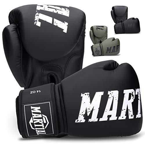 Guantoni da Boxe Martial Realizzati con Il miglior Materiale per Una Lunga Durata! Guanti da Kickboxing per Arti Marziali, MMA, Sparring e Boxe con As
