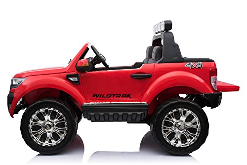 RC Kinderauto kaufen Kinderauto Bild 1: ES-TOYS Kinderfahrzeug - Elektro Auto Ford Ranger, Modell - lizenziert - 2X 12V7AH Akku,4 Motoren 2,4Ghz MP4 Ledersitz Eva 2 Sitzer (Rot)*