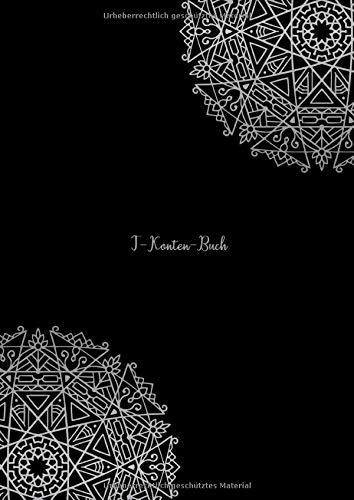 T-Konten-Buch: T-Konten-Block im Buchformat A4, 100 Seiten mit je 8 T-Konten plus Platz für Notizen mit Mandala Muster
