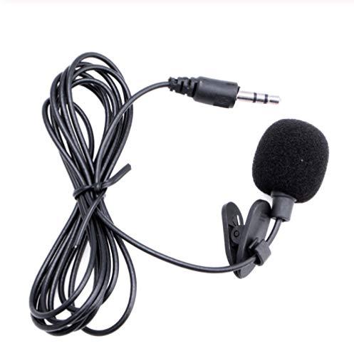 Tragbares Mini-Mikrofon, Kondensator-Aufsteck-Lavalier-Mikrofon, 1,5 M Kabelgebundenes Videomikrofon Für Außenkameras