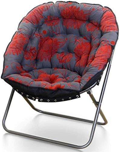 Leichte Stühle, Camping Reclining Klappbarer übergroßer Moon Saucer Stuhl, Schlafzimmerstuhl, Butterfly Chair Lounge Chair, Raumdekoration, Kinderstuhl, Schlafzimmerstuhl (Farbe: R) (Farbe: K)