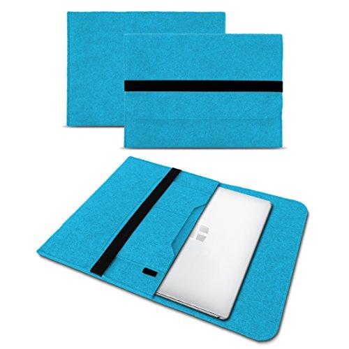 UC-Express Sleeve Hülle kompatibel für Trekstor Primebook P13 P14 P14B Tasche Filz Notebook Cover 14,1 Laptop Hülle, Farbe:Türkis