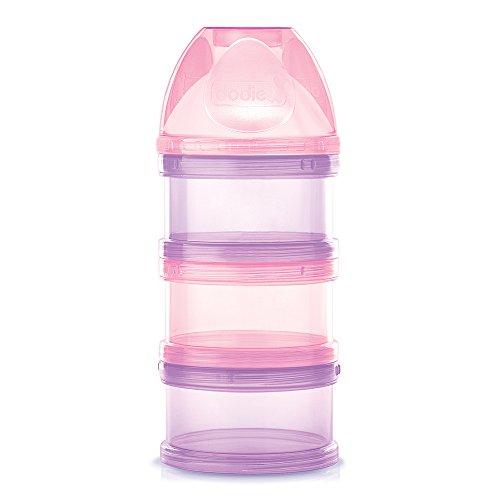Dodie-Boîte doseuse transparente rose, séparable à l'unité