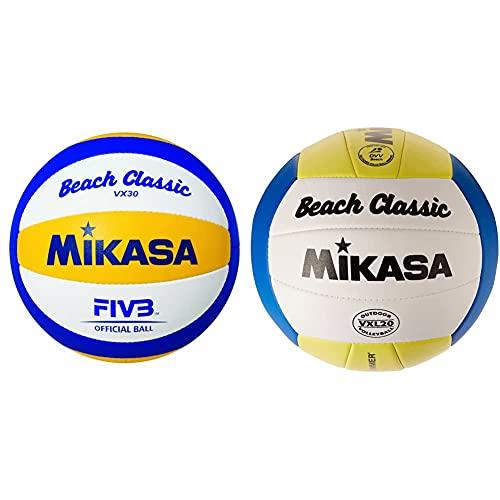 Mikasa Beachvolleyball Beach Classic VX 30, 1612 & Beachvolleyball Beach Classic, Mehrfarbig, 5