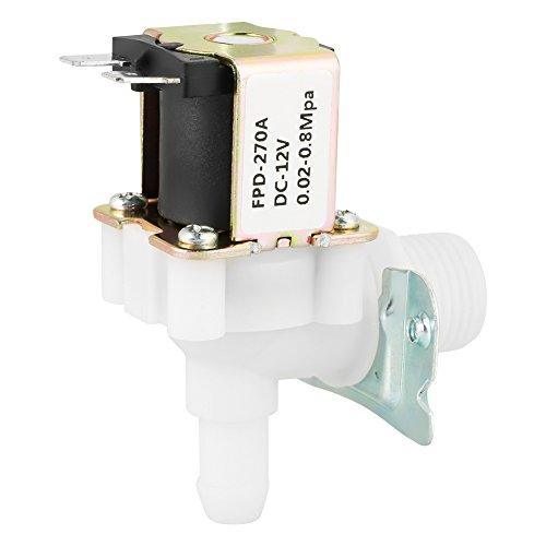 Válvula de entrada de agua eléctrica N/C, DC 12V Adecuado para suministro...