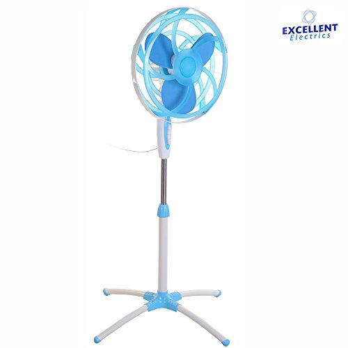 Ventilatore con Piantana 'Soft Blade Blu' Excellence Electrics