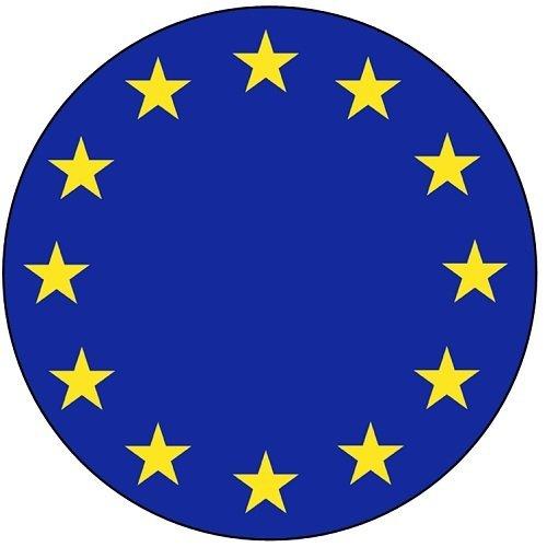 SPQR Vlag van de Europese Unie Sleutelhanger Flessenopener (diameter 58mm)