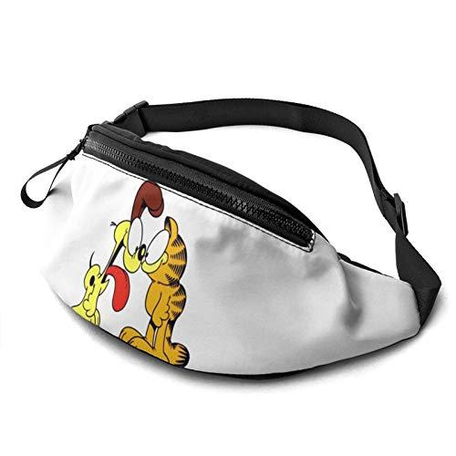 Garfield - Bolsa de cintura para hombre y mujer con cinturón ajustable, para correr, para correr, senderismo, pecho y hombros